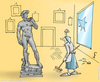 Cartoon: David (small) by hopsy tagged david michelangelo sculpture renaissance