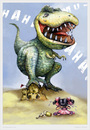 Cartoon: Dino (small) by hopsy tagged dinosaur,dino,caricature,hopsy