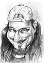 Cartoon: Tuomas Holopainen (small) by hopsy tagged tuomas,holopainen,nightwish,symphonic,metal,rockstar