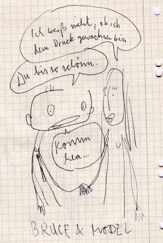 Cartoon: Germany.s next Topmodel (medium) by wf-artwork tagged model,woman,frau