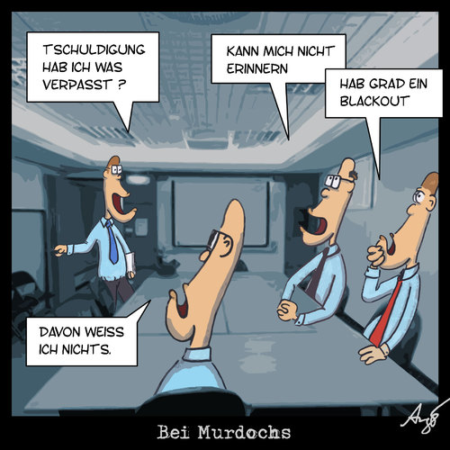 Cartoon: Bei Murdochs (medium) by Anjo tagged abhören,abhörskandal,journalismus,presse,boulevard,skandal,england,murdoch,großbritannien,britain,great,blackout,world,the,of,news,sun,management,management,großbritannien,blackout,murdoch,england,presse,boulevard,journalismus,skandal