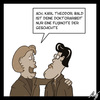 Cartoon: Fussnote (small) by Anjo tagged guttenberg,fussnote,doktorarbeit,plagiat