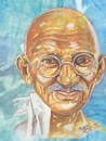 Cartoon: mahatma gandhi (small) by indika dissanayake tagged mahatma gandhi