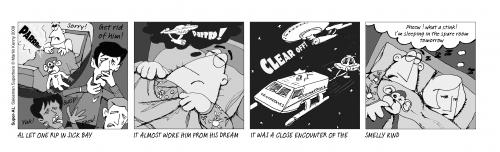 Cartoon: FARTrek part5 (medium) by Super-AL tagged dream,sleep,wife,hero,space,star,trek,monkey,cartoon