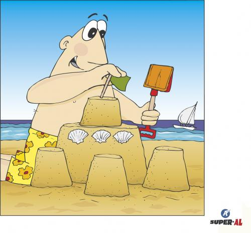 Cartoon: Super-AL (medium) by Super-AL tagged sand,beach