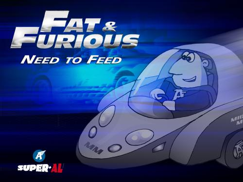 Cartoon: The fat and the Furious (medium) by Super-AL tagged street,racing,car,need,for,speed,hotrod,furious,superal,the