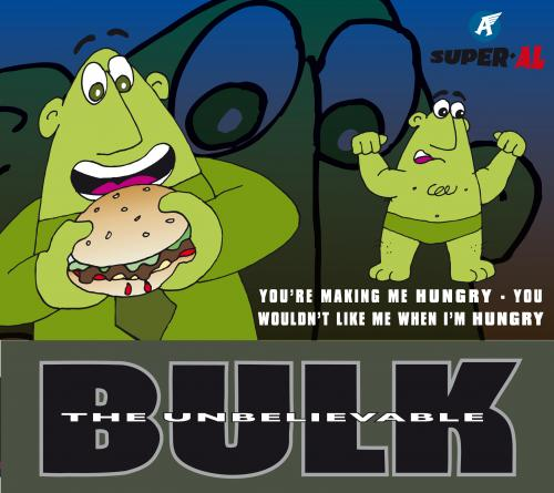 Cartoon: The Hulk or Bulk (medium) by Super-AL tagged incredible,hulk,angry