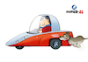 Cartoon: Super-AL - Dogs hate him! (small) by Super-AL tagged car