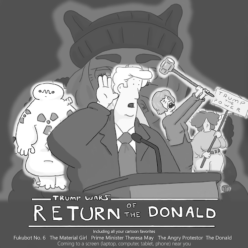 Cartoon: Return of the Donald (medium) by creative jones tagged parody,return,of,the,jedi,donald,political,humor,cartoon,parody,return,of,the,jedi,donald,political,humor,cartoon