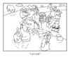 Cartoon: cartoon saga (small) by creative jones tagged viking,babtism,battle,swordplay