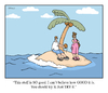 Cartoon: coconut desserted island (small) by creative jones tagged canoe,palm,tree,desert,island,narrative