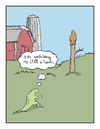 Cartoon: hawkeye (small) by creative jones tagged creative,jones,hawk,hawkeye,eagle,eyed,barn,field