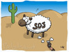 Cartoon: SOS Schaf (small) by Belzebub tagged sheep,sos,schaf,wüste,desert,rasierer,sinnfrei,razor,shaver