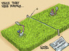 Cartoon: The longest ever tennis match! (small) by Satish Acharya tagged wimbledon,longest,tennis,match