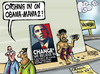 Cartoon: Will Obama bring CHANGE to India (small) by Satish Acharya tagged obama india visit change usa