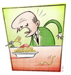 Cartoon: OGM (small) by Giacomo tagged ogm,spaghetti,pasta,food,eat,giacomo,cardelli