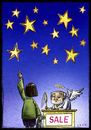 Cartoon: Sale (small) by Giacomo tagged stars,sale,god,buy,offers,sky,angel,expenditure,shopping,giacomo,cardelli,lombrio,jack