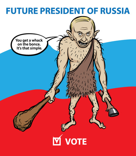 Cartoon future president of russia medium by toonstylecom tagged
