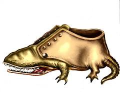 Cartoon: Shoeligator (medium) by LUIS PEREZ PEREZ tagged shoes,animals,alligator