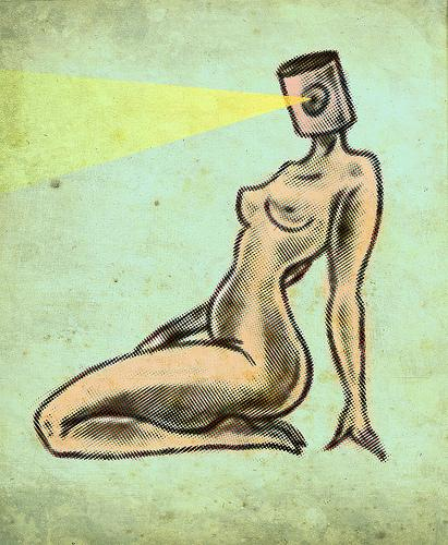 Cartoon: Sultry (medium) by LUIS PEREZ PEREZ tagged sultry,nude