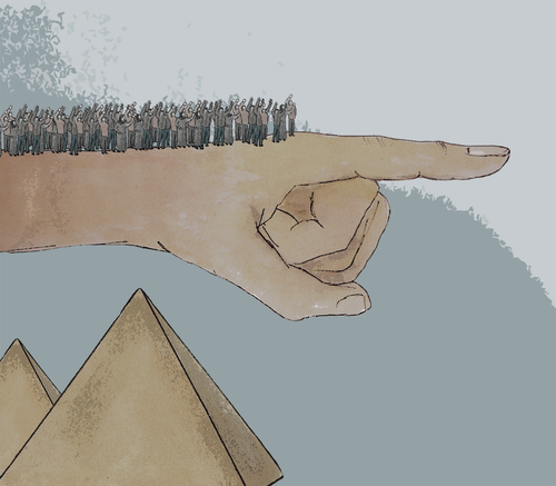 Cartoon: revolution en Egypte (medium) by No tagged moubarak,egypte,