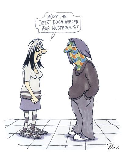 Musterung By POLO | Politics Cartoon | TOONPOOL