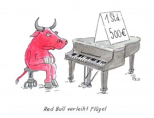 red bull verleiht fl gel by polo media culture cartoon. Black Bedroom Furniture Sets. Home Design Ideas