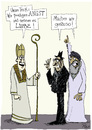 Cartoon: Monotheistische Religionen (small) by POLO tagged religion,moslem,christ,jude,glaube,liebe,angst
