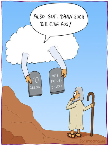 Cartoon: also gut (medium) by fcartoons tagged gott,sinai,tafeln,gebote,10,moses,mose,gut,also,cartoon,glaube,religion,arme,wolke,cloud,god,heaven,überlegen,stock,stick,sandale