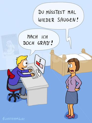 Cartoon: Mutter und Sohn (medium) by fcartoons tagged mutter,sohn