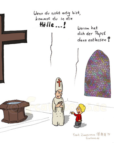 Cartoon: Pastor (medium) by fcartoons tagged pastor,kirche,abt,papst,belästigen,junge,blond,frech,kreuz,taufe,fenster,kirchenfenster
