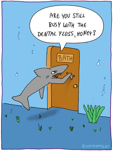 Sharks bath by fcartoons nature cartoon toonpool for How do sharks use the bathroom