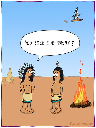 Cartoon: SOLD PHONE (medium) by fcartoons tagged sell,carpet,indian,desert,fire,campfire,tent,flying,magic,aladdin,dust,cell,phone,fakir