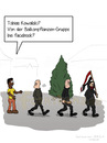 Cartoon: Demonstration (small) by fcartoons tagged demonstration,demo,nazi,schwarzer,facebook,cartoon,fahne,baum,gruppe,tobias