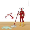 Cartoon: Flashmop (small) by fcartoons tagged flashmop,flash,flashmob,dc,comics,cartoon,pun,wischen,sauber,putzfrau