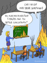 Cartoon: GO OUT AND DRINK (small) by fcartoons tagged burn,cartoon,drink,fire,math,pupil,school,teacher,hot,toon,arm,head,schule,lehrer,feuer