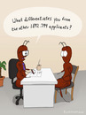 Cartoon: INTERVIEW (small) by fcartoons tagged job,interview,ant,boss,chair,applicant,office,coffee,fcartoons,yucca,comic,question