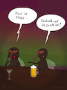 Cartoon: Mach ne Fliege (small) by fcartoons tagged anmachen baggern bar bier cartoon dark fly night pub pun cocktail dunkel fliege flirten kneipe lustig theke trinken