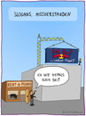 Cartoon: missverstandener Slogan (small) by fcartoons tagged missverstandener slogan red bull piano flügel shop industrie kran werbetafel