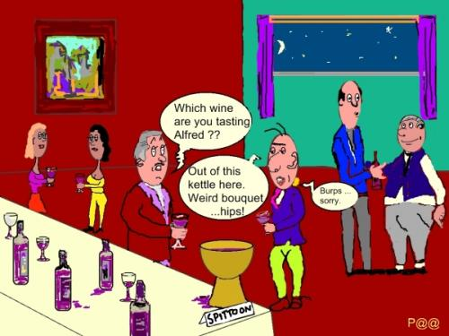 Wine Tasting Cartoons