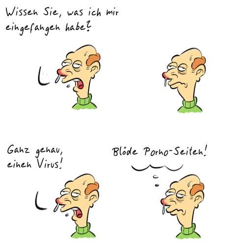Cartoon: Kommentar30 (medium) by Rob tagged commentary,kommentar,guy,typ,ill,krank,porno,stupid,dumm