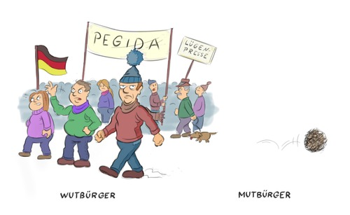 Cartoon: Pegida (medium) by Rob tagged pegida,wutbürger,protest,islam,islamisierung,mut,deutschland,demo