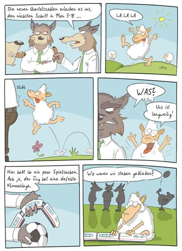 Cartoon: Sheeple (medium) by Rob tagged schaf,schafe,sheep,sheeps,wolf,wölfe,wolves,herde,weide,train,zug,ball,fussball,soccer