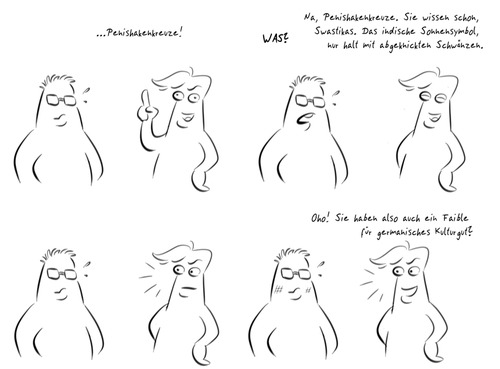 Cartoon: Homophobia (medium) by Rob tagged schwul,gay,hetero,homo,ehe,marriage,marry,heiraten,kratos,hakenkreuz,swastika