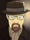 Cartoon: Heisenberg (small) by Rob tagged walter,white,heisenber,breaking,bad,chemie,chemistry,drugs,drogen,crystal,meth,kingpin,us,usa,series,season,crime