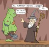 Cartoon: Racist Gandalf (small) by Rob tagged gandalf,herr,der,ringe,lord,of,the,rings,zauberer,wizard,magic,magie,rassist,flucht,flüchtling,refugee,ork