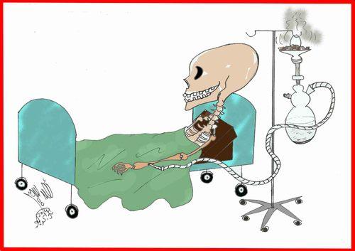 Cigarette Caricature death bedahmedsamirfarid | nature cartoon | toonpool