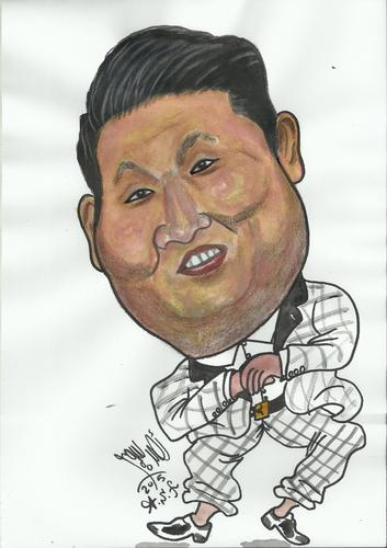 Cartoon: PSY GANGNAM (medium) by AHMEDSAMIRFARID tagged ahmed,samir,farid,actor,egyptair,comics,caricature,cartoon