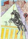 Cartoon: KNIGHT MOVE (small) by AHMEDSAMIRFARID tagged ahmed,samir,farid,cartoon,caricature,horse