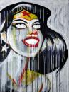 Cartoon: The Wonder (small) by sophiegreen tagged wonder,woman,acrylic,canvas,sophie,green,artist,illustrator